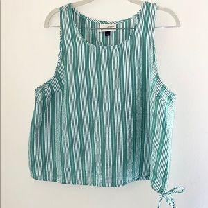 Green/White Stripe Blouse
